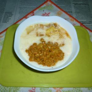 とろろ納豆+白菜のタパス