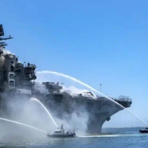 ☆USSボノムリシャール強襲揚陸艦で火災発生   更に各国艦船の事故まとめ