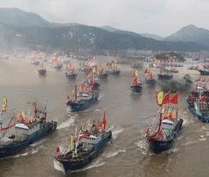 ☆良漁場の大和堆に中国船が殺到中 一方 日米印豪の四ヶ国艦 マラバールに集結が決定