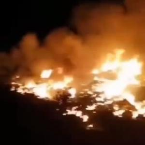 ☆広東省廉江市で中共の軍用機が墜落し大炎上!
