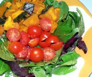 単品料理|500円!並べるだけですが、かぼちゃサラダ綺麗です