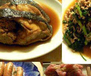 🍚献立|大根の葉っぱと挽肉最高!煮魚カレイ 大根葉と挽肉炒め ネギトロ 餃子ウインナー