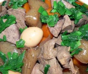 🍳単品|焼肉のタレ利用の煮物 レバーの五目煮 旨いですよ