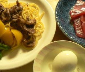 砂肝ペペロンチーノセット マグロはカルパッチョより普通にわさびと醤油で刺身がいい?