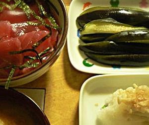 マグロ カツオ 刺身系丼 献立 レシピ