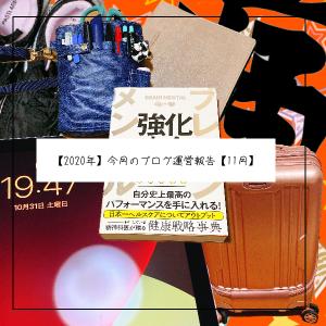 【2020年】今月のブログ運営報告【11月】