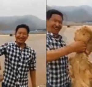 中国で捕獲された生きているヒューマノイド生物