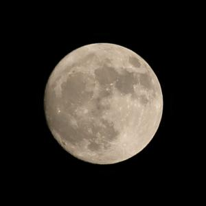 【夜空】今日は満月