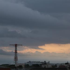【空模様】朝と夕方【今日は駄目ねぇ】