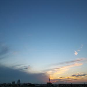 【空模様】今日の夕焼け【あまり焼けて無い】