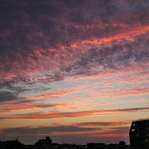 【空模様】21日と22日の夕焼け【サンセット】