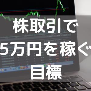 今年の目標は毎月5万円を株で稼ぐことだった