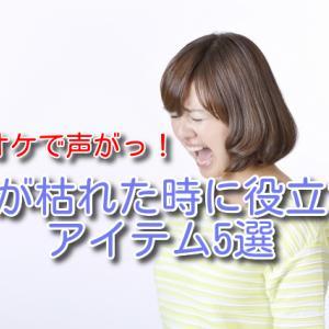 【カラオケで声がっ…!】声が枯れた時に役立つアイテム5選