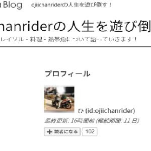 「御礼」読者さん100人超えましたよー!!