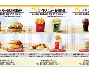 【株主優待】マクドナルドから30食分もらいましたが