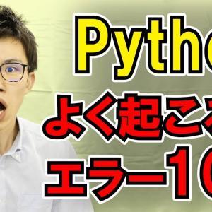 【vol.017】Pythonでよく起こるエラー | 中学生でもわかるPython入門シリーズ