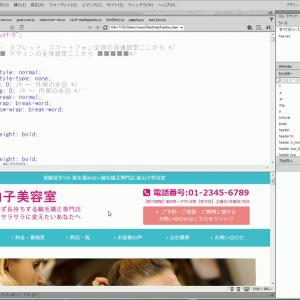 売れるホームページ作成マニュアル花実 CSSの解説動画