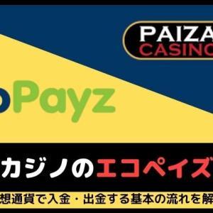 パイザカジノのエコペイズ入出金!手順、手数料、限度額、出金スピード