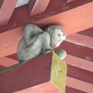 日吉大社(ひよしたいしゃ)でお猿さんと会う