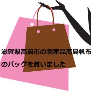 滋賀県高島市の物産品高島帆布のバッグを買いました