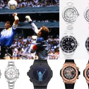 ディエゴ・マラドーナの腕時計|ウブロ、ロレックスを両腕に
