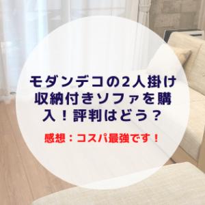 モダンデコの2人掛け収納付きソファを購入!評判はどう?【感想:コスパ最強です!】