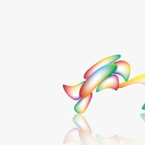 【イラストレーターでお絵描き】虹色チックの花