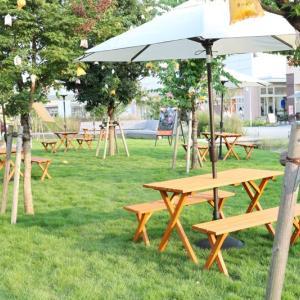 【おやまゆうえんハーヴェストウォーク】芝生広場が登場!ピクニックセットのレンタルは無料 #おしゃピク しよう