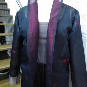 新作☆紗の羽織からジャケット【着物リメイク彩*AYA*】