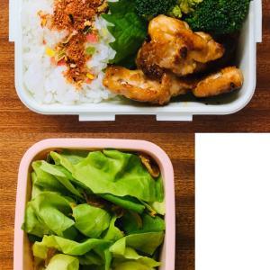 豚肉の味噌マヨ焼きと鶏肉のトマトすき煮の常備菜