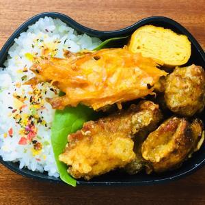 鶏むね肉のカレー竜田揚げ弁当&防災セットとマスク