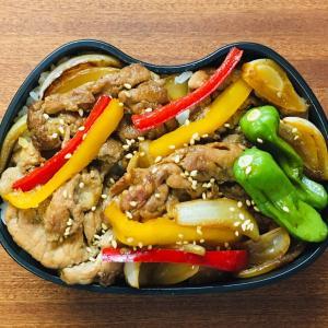 生姜焼き弁当&よしもりまきばの季節
