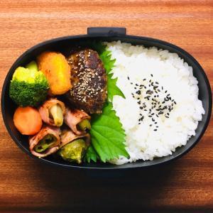 コゲコゲ麻婆豆腐とハンバーグ弁当