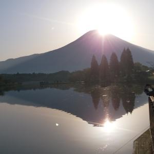 ★田貫湖にてダブルダイヤモンド富士を・・・。★