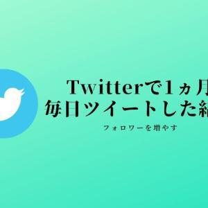 【Twitter】1ヵ月毎日ツイートした結果「フォロワー増加」