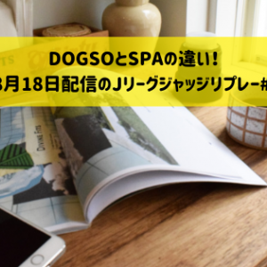 DOGSOとSPAの違い!(2020年8月18日配信のJリーグジャッジリプレー#13を見て)
