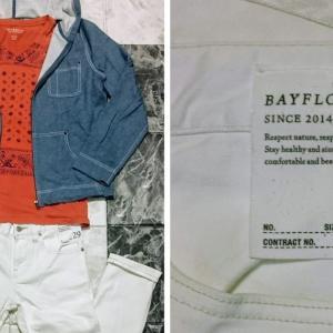 「ベイフロー」ホワイトのスキニーパンツで「春コーデ」を作る。 BAYFLOW・白い洋服の着こなし方