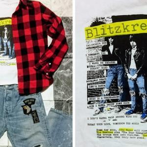 「ラモーンズ」古着の電撃バップのTシャツで「春コーデ」を作る。 RamonesのバンドTシャツ ロックTシャツ 着こなし方