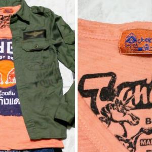 「レッドブル」のオレンジ色のTシャツを使って「秋コーデ」と「夏コーデ」を作る。 REDBULLのアパレル 着こなし方