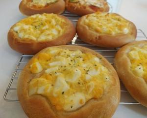 たまごパン&ミニpizza