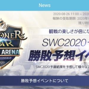SWC 2020 予選勝敗予想イベント