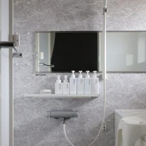 【バスルーム】棚を外して、お掃除しやすく。詰め替えボトル、うちが無印にした理由。