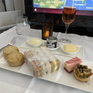 カタール航空 B787 ビジネス 〈QR131 ドーハ=ローマ〉
