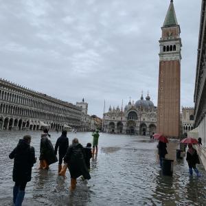 ベネチアの浸水!アクアアルタの見舞われる。