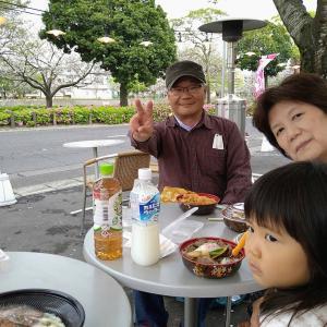 #693 桜見で お昼ごはんでした❗