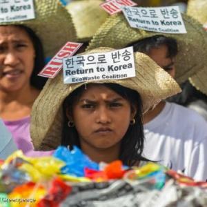 フィリピンに不法輸出した韓国産ゴミ 5100t   1年半ぶりに韓国に返送