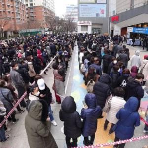 【韓国】マスク大乱 マスクを求める大行列
