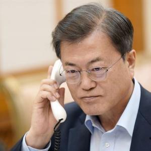 【韓国】文大統領、トランプと通話 ... 青瓦台「北朝鮮への人道支援原則を確認」【コロナ】