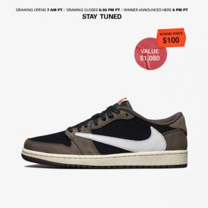 【10倍近くのプレ値!10/17(木)】Jordan 1 Low ×Travis Scott @NTWRK