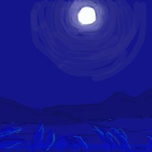 子どもの頃、月の光は青かった